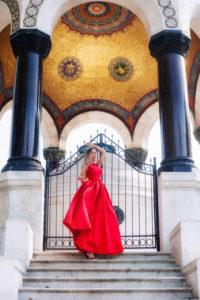 satin red dress istanbul