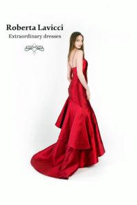 Red carpet formal dress