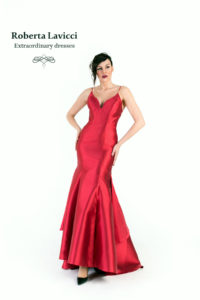prom dress with tail