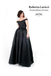 Formal black satin dress