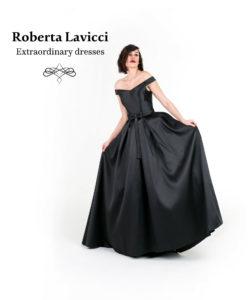 black satin wedding dress