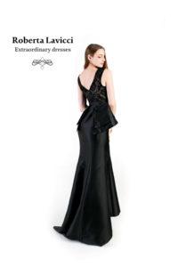 Peplum formal dress