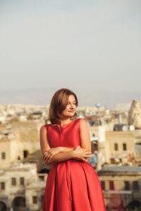 luxury photoshoot in dresses in Cappadocia